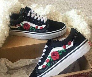 rose, shoes, and vans image