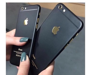 apple, black, and iphone image