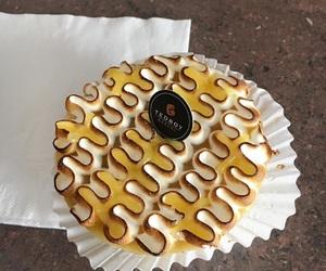food, teatime, and waffle image