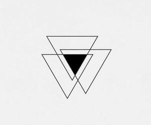 art, minimalist, and triangle image