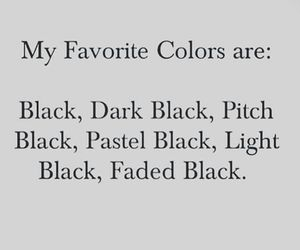 black, color, and quote image