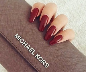 nails, girl, and Michael Kors image