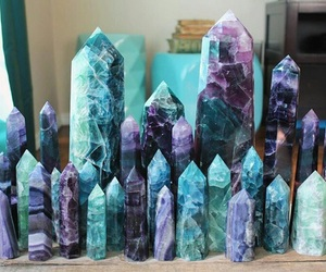 crystal, purple, and aesthetic image