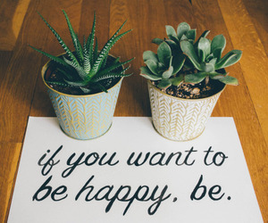 plants, quotes, and happy image