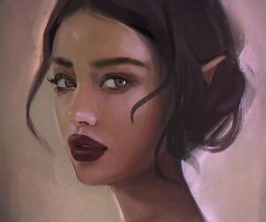beautiful, brown hair, and brown skin image