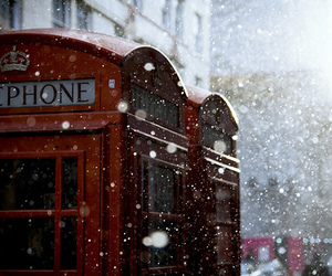 telephone and winter image