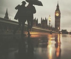 city, london, and rain image