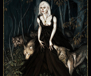 black dress, gothic, and death image