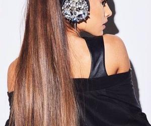 black, hair, and headphones image