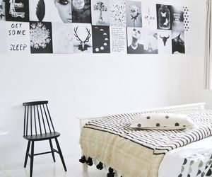apartment, art, and bed image