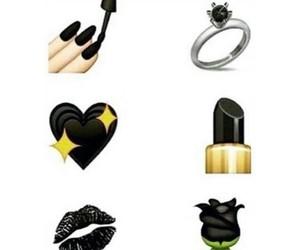 black, emoji, and heart image