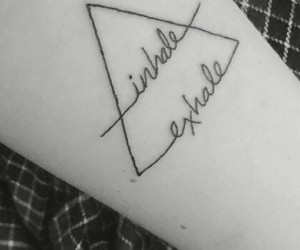 exhale, tattoo, and triangle image