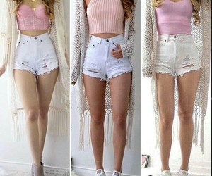pink, outfit, and moda image