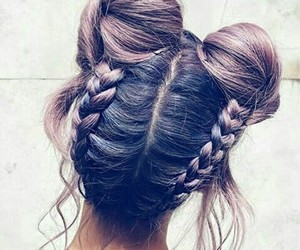 care, hair, and purple image