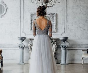 dress, grey, and white image