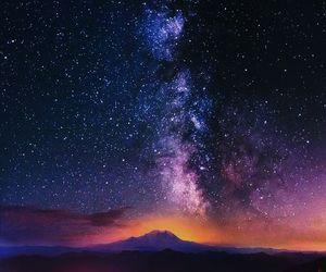 stars, night, and purple image