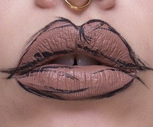 lips, makeup, and art image