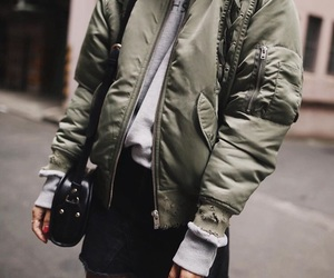 fashion, bomber, and look image