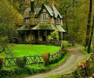 cottage, green, and home image