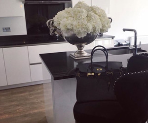 bags, black&white, and house image