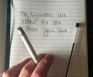 cigarette, smoke, and quotes image