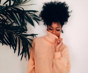 curly, dark skin, and girl image