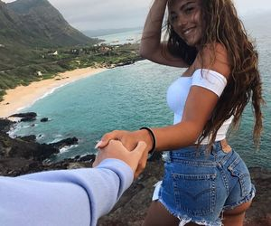 couple, goals, and beach image