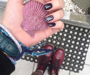 bracelet, nails, and shell image