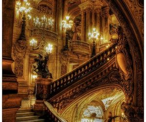 stairs, castle, and architecture image