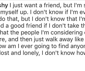 friend, introvert, and lonely image