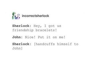 funny, sherlock, and johnlock image