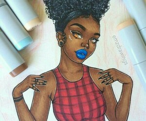 woc, black art, and melanin image