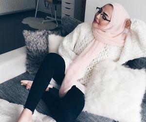 hijab, muslim, and casual image