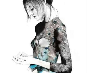 chicas, dibujos, and peinados image