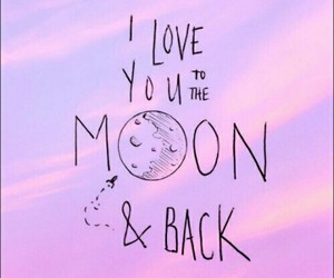 background, love, and moon image