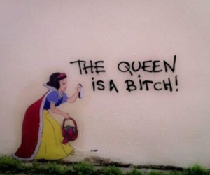 Queen, bitch, and snow white image