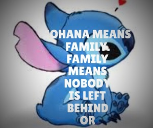 family, ohana, and lilo&stitch image