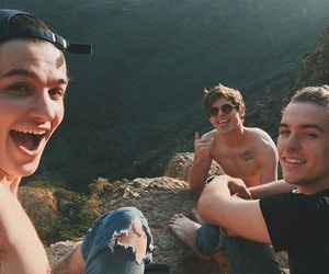 aesthetic, boys, and cliff image