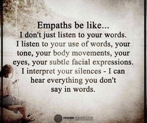 body, empathy, and eyes image