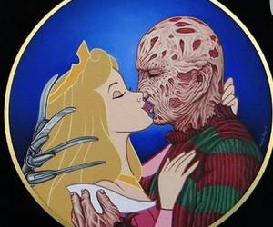 freddy krueger, kiss, and romantic image
