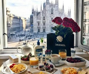 breakfast, food, and chanel image