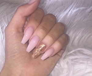 accessories, nails, and pink nails image