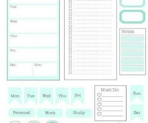 planner, stickers, and to do image