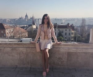 brunette, budapest, and country image