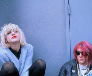 kurt cobain, grunge, and Courtney Love image
