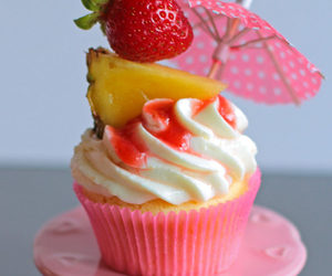 cupcakes, pineapple, and rum image