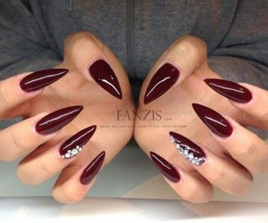 beauty, nails, and stiletto image