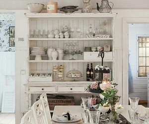 dining room, country cottage, and farmhouse image