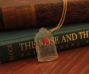 beauty and the beast, etsy, and flower necklace image