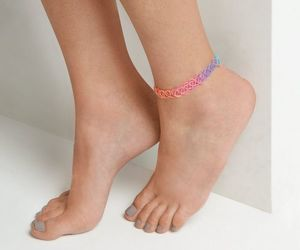 rainbow, tattoo, and anklet image